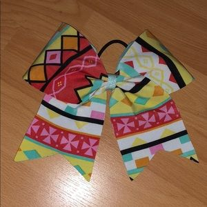 Cheer hair bow for girls